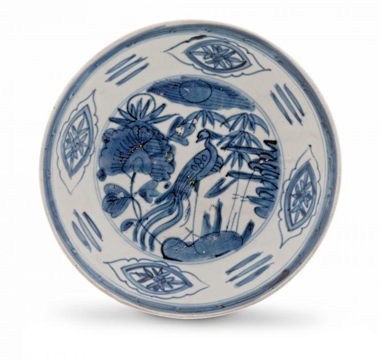 A blue and white 'Swatow' Zhangzhou dish, 17th century
