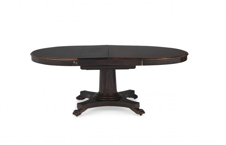 A Victorian rosewood oval extending table
