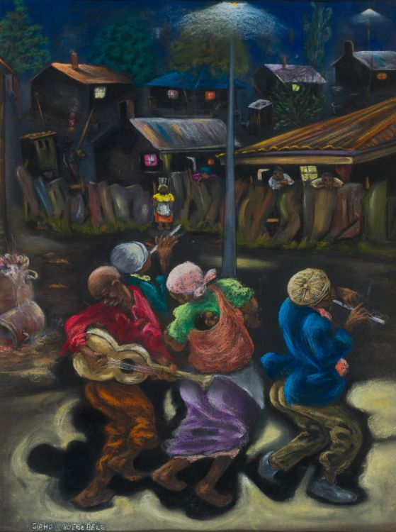 Sipho Ndebele; Musicians in a Township