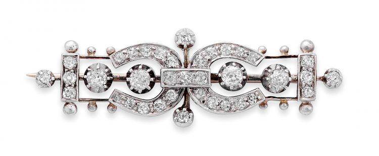 Late Victorian diamond brooch