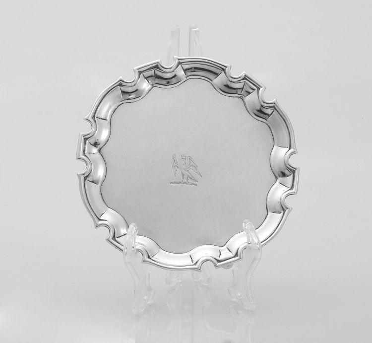 A George II silver salver, Thomas Rush, London, 1737