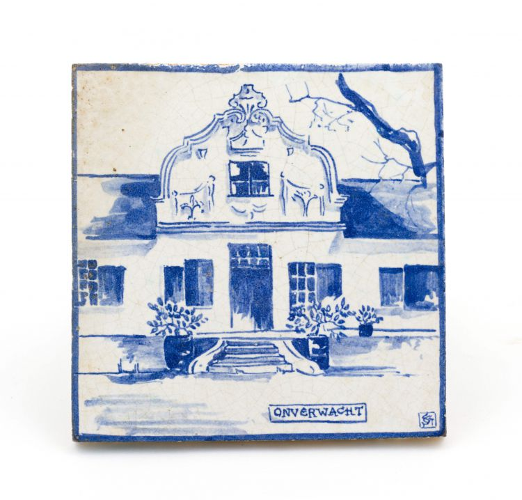 A Ceramic Studio white-glazed tile, 1927