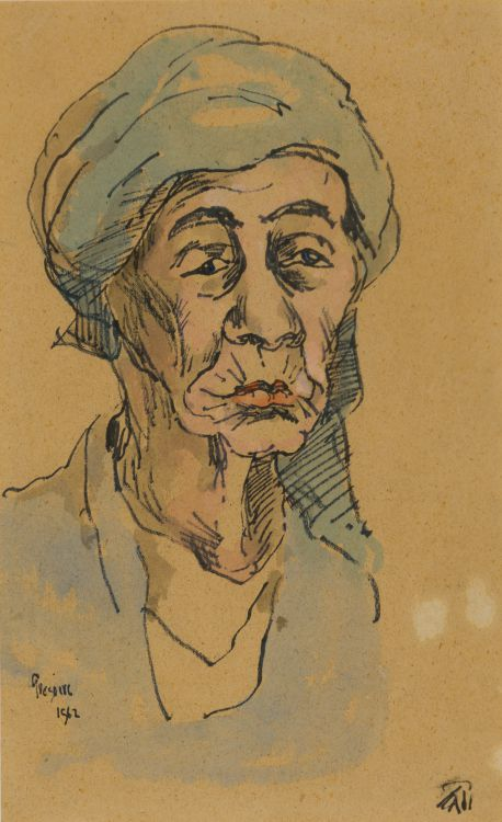 Gregoire Boonzaier; Portrait of an Old Woman