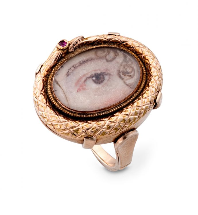 Georgian Lover's eye ring