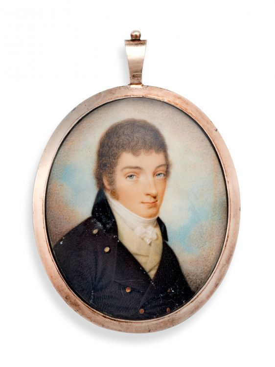 19th century portrait miniature of a gentleman