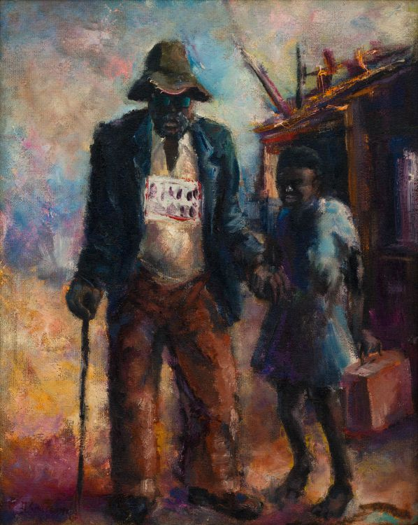 Durant Sihlali; Man and Girl Walking