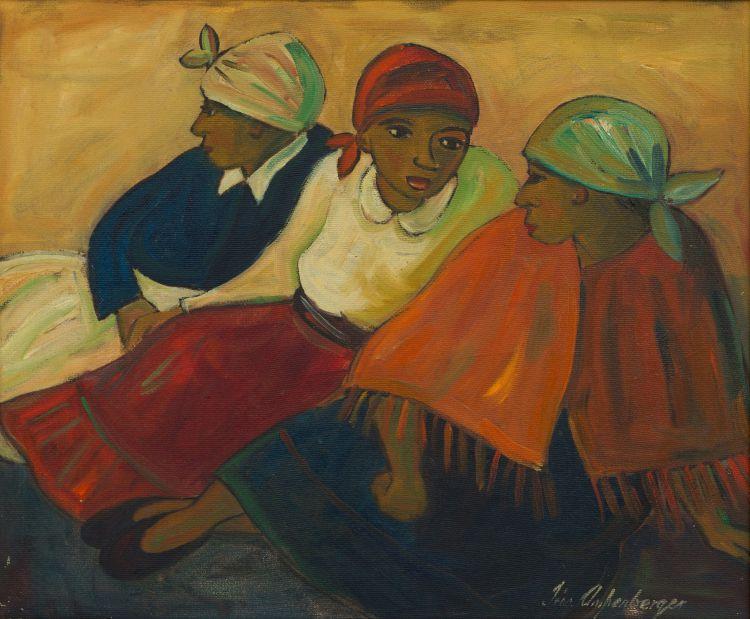 Iris Ampenberger; Wagtende (Three Women)