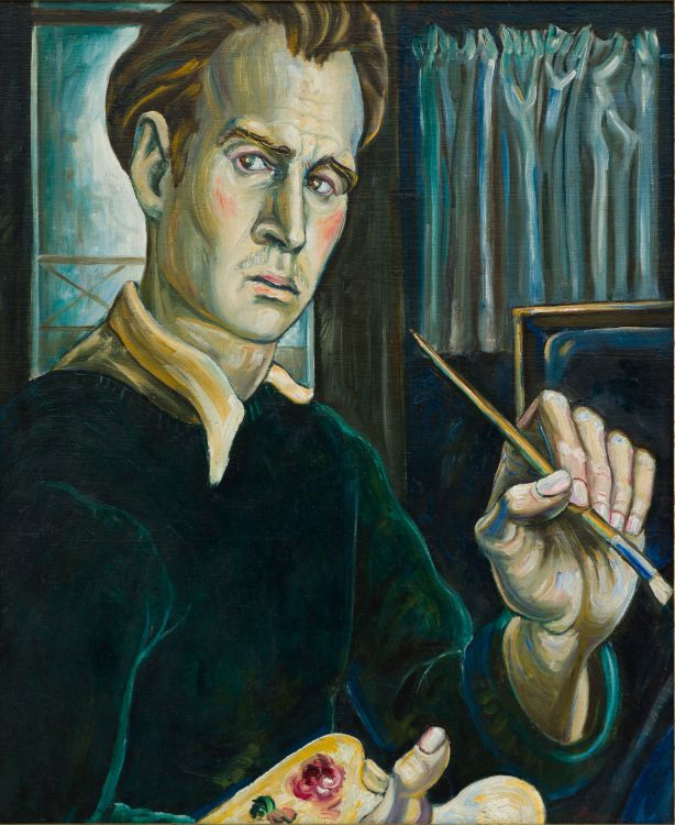 Eugene Labuschagne; Self Portrait of the Artist