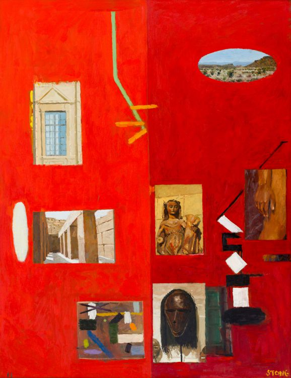 Simon Stone; Red Painting with Mask