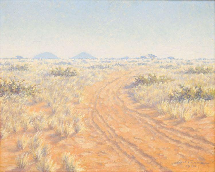 Carl Ossmann; Landscape with Dirt Track