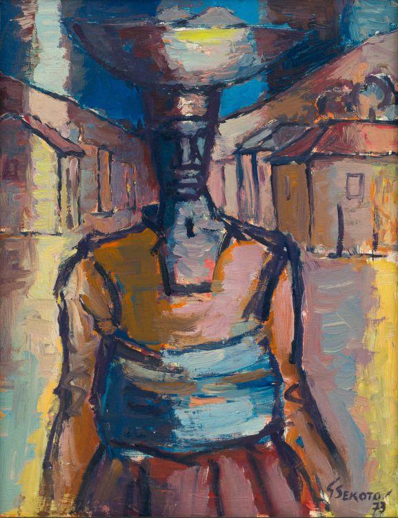 Gerard Sekoto; Woman Carrier