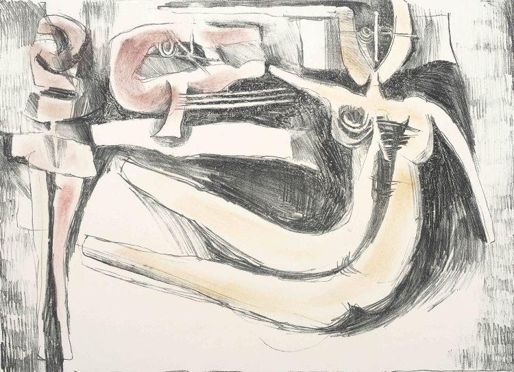 Cecil Skotnes; Reclining Figure