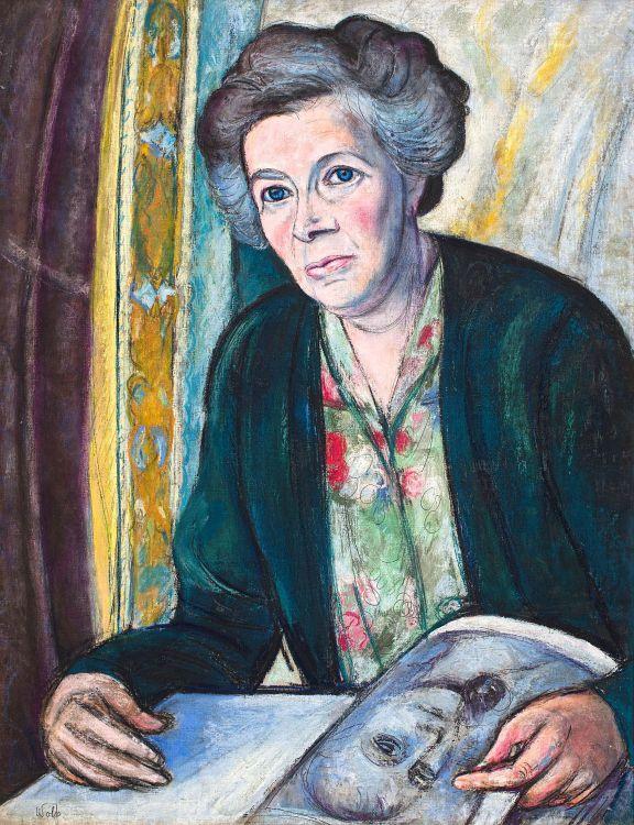 Edward Wolfe; Portrait of Mrs Jefferson