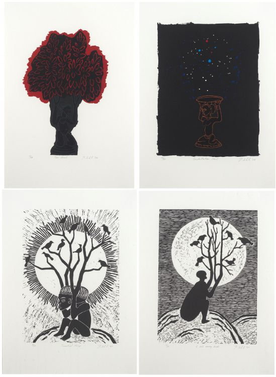 Peter Schütz; Tree Stool, Constellation Stool, Terrestrial Things, A Bird among Birds (4)