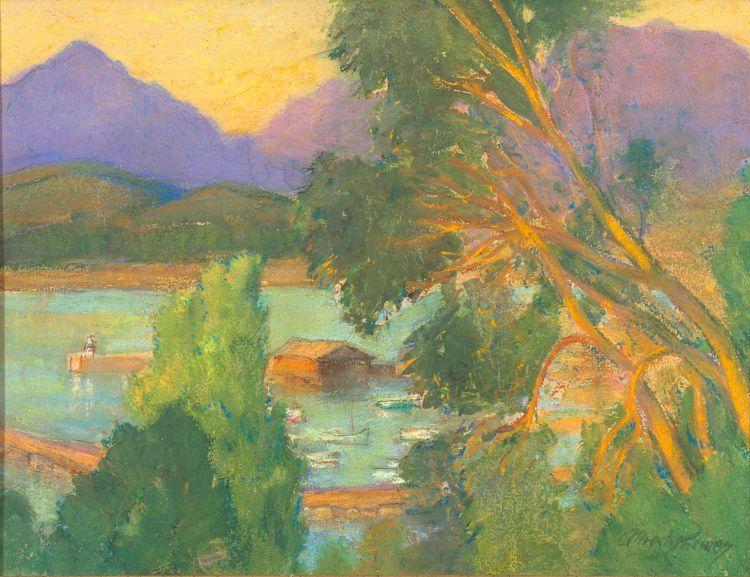 Alfred Palmer; Harbour Landscape