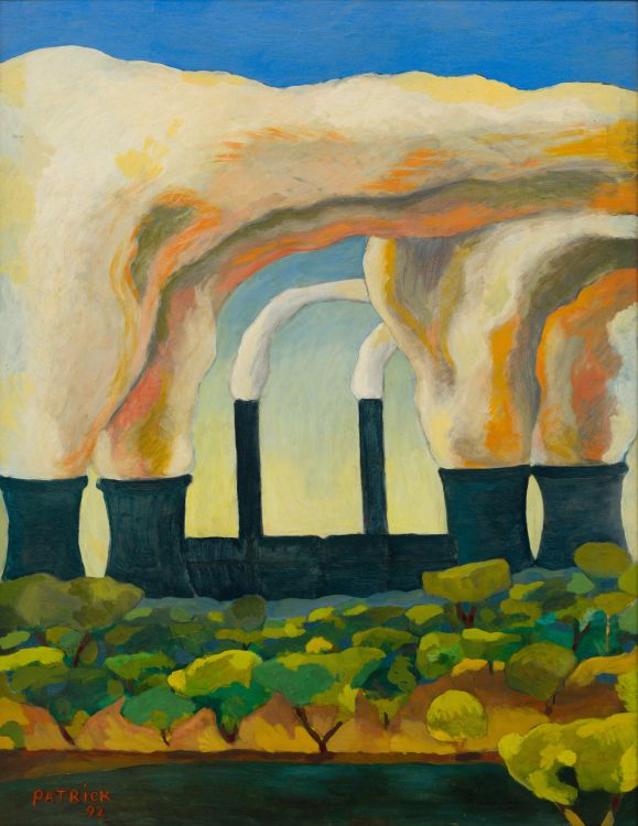 Terrence Patrick; Landscape with Smoke Stacks, Vereeniging
