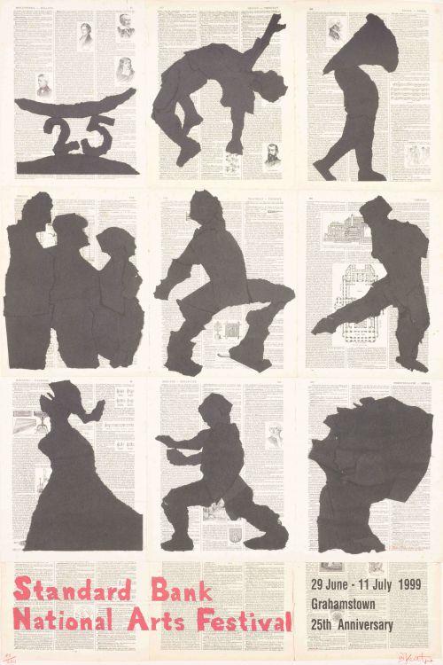 William Kentridge; Standard Bank National Arts Festival, 29 June – 11 July 1999, poster