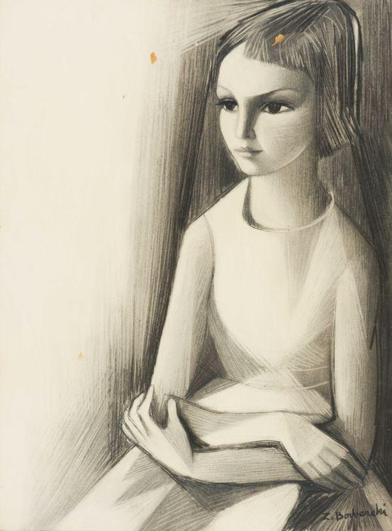 Zoltan Borbereki; Portrait of a Girl