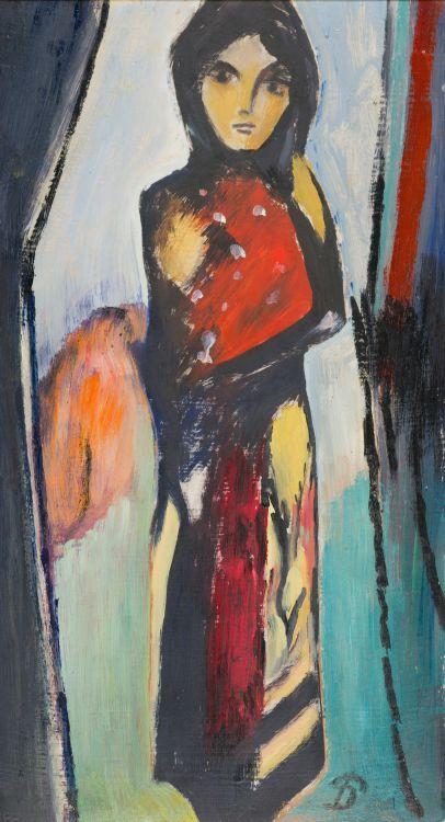 Pranas Domsaitis; Standing Woman
