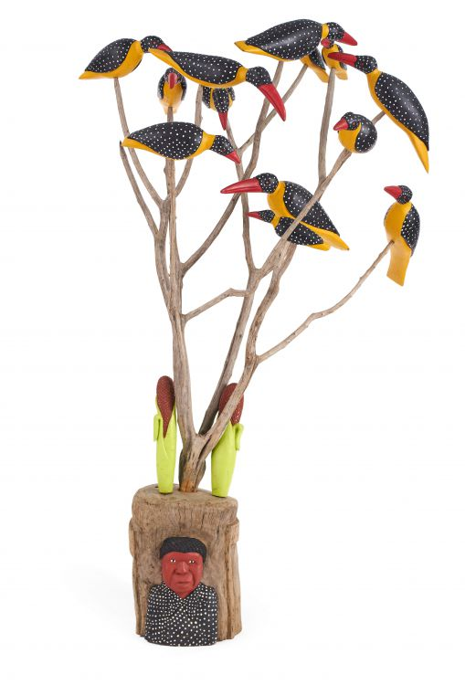 Johannes Maswanganyi; Birds in a Tree
