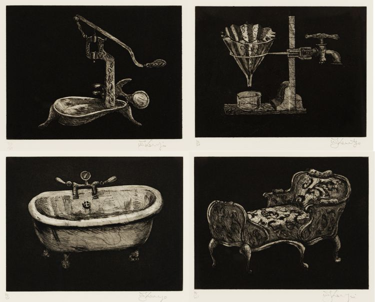William Kentridge; Black Objects, four