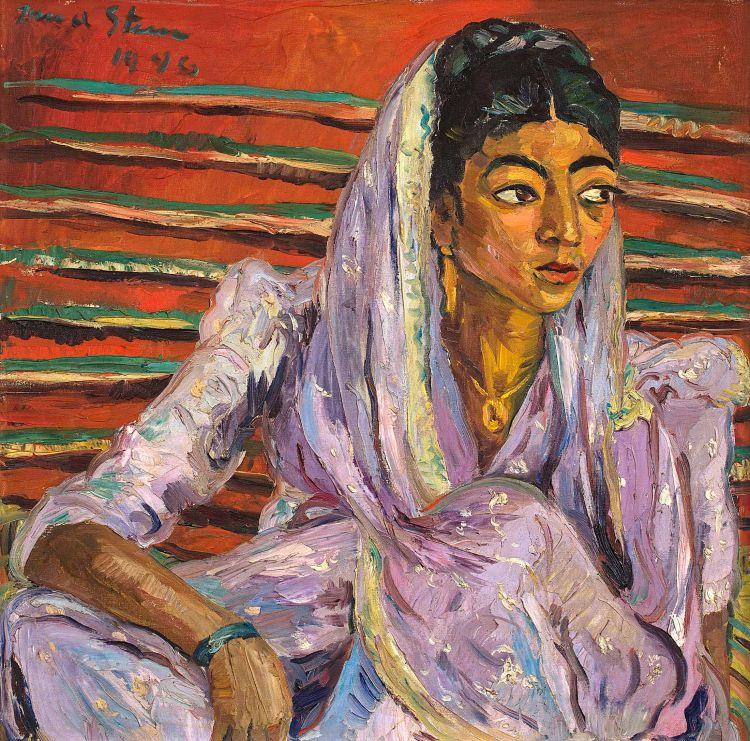 Irma Stern The Mauve Sari