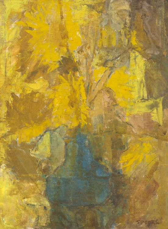 Frank Spears; Still Life with Sunflowers