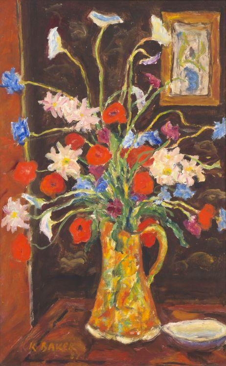 Kenneth Baker; Still Life with Orange Flowers