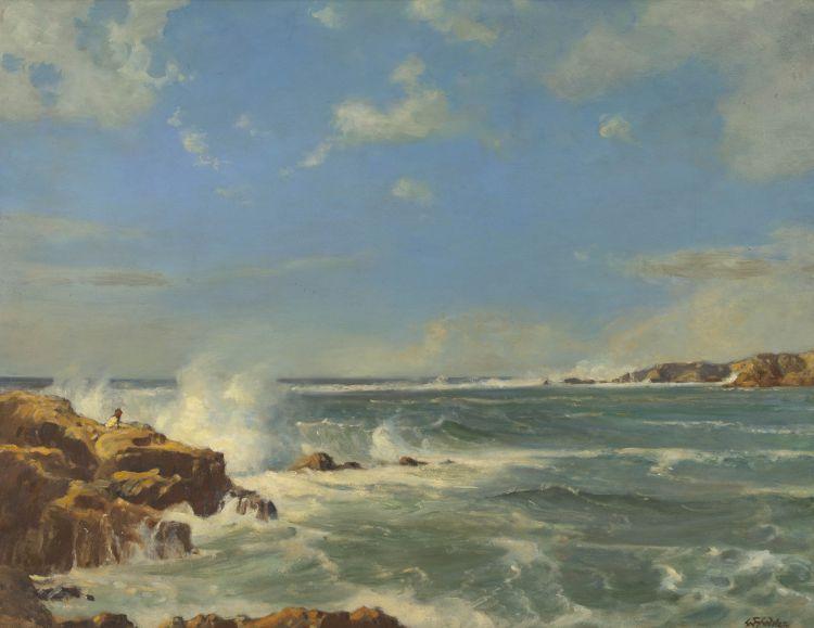 Walter Gilbert Wiles; Coastal Scene