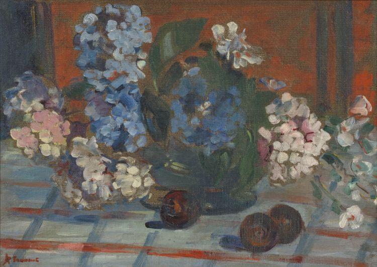 Alice Tennant; Hydrangeas and Pomegranates