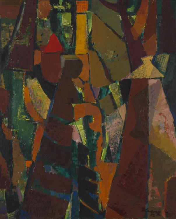 Alfred Krenz; Abstract with Basuto Motives