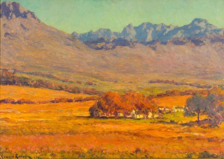 Edward Roworth; Autumn near Stellenrust, Stellenbosch District