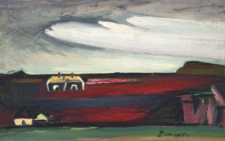 Pranas Domsaitis; Karoo Landscape with Houses
