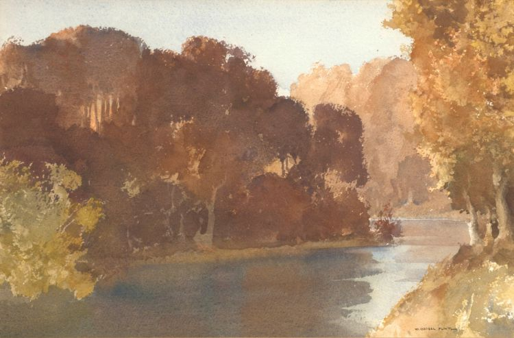 Sir William Russell Flint; Autumn's Final Glory, Arundel