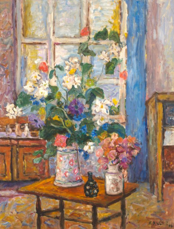 Kenneth Baker; Interior with Flowers