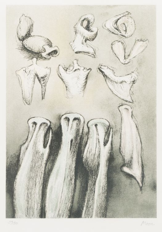 Henry Moore; Three Sisters (Cramer 621)