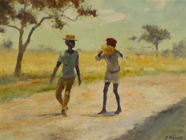 Christopher Tugwell; Two Boys on a Country Road