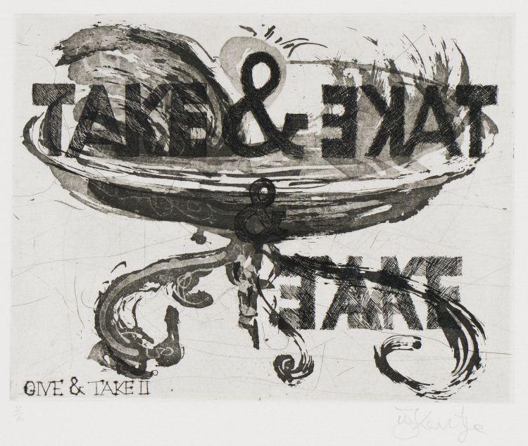 William Kentridge; Give & Take II
