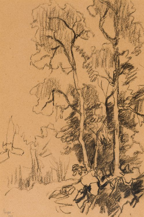 Gregoire Boonzaier; Landscape with Trees