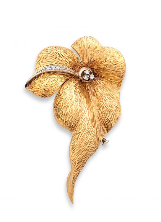 Gold and diamond brooch, 1970s
