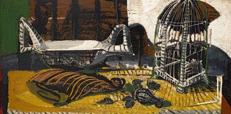 Christo Coetzee; Still Life with Bird Cage