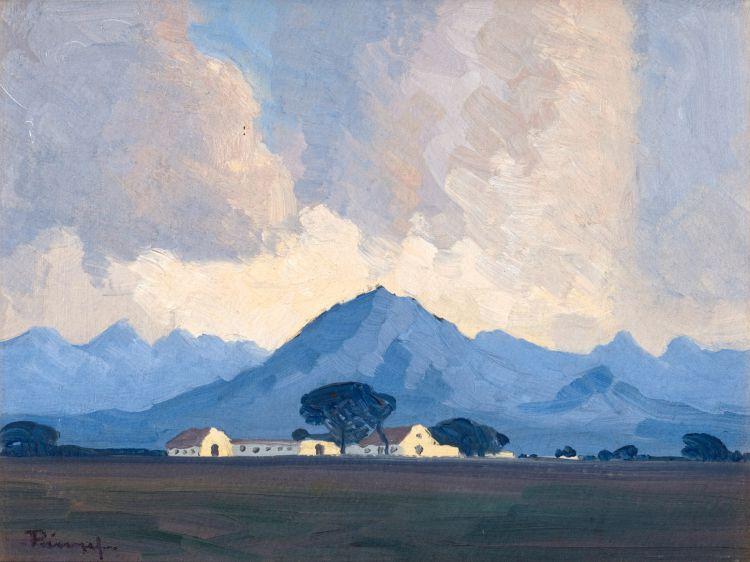 Jacob Hendrik Pierneef; An Extensive Mountain Landscape