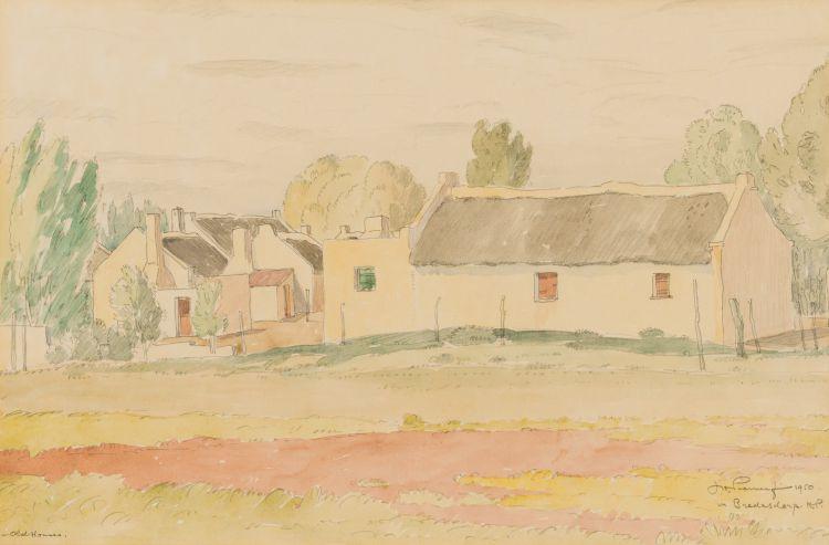 Jacob Hendrik Pierneef; Old Houses in Bredasdorp, K. P.