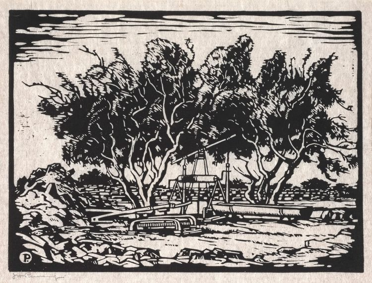 Jacob Hendrik Pierneef; Waterpomp, Amatoko, SWA (Nilant 108)