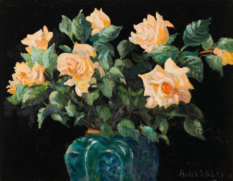 Allerley Glossop; Roses in a Ginger Jar