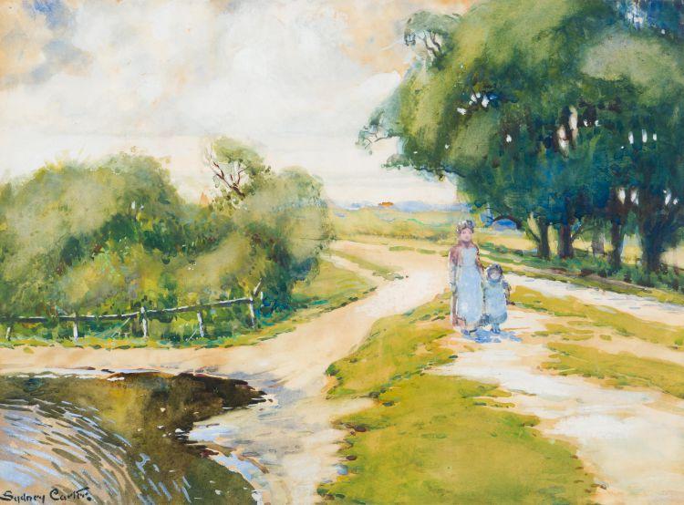 Sydney Carter; View of Baldwin's Hill, Loughton, Essex