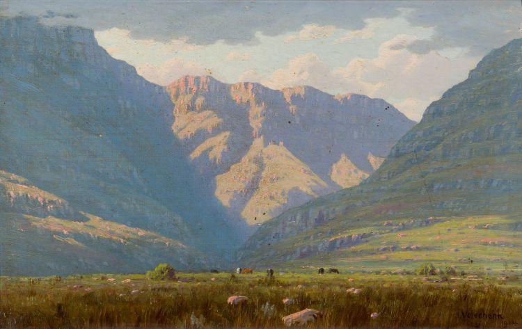 Jan Ernst Abraham Volschenk; Sunshine and Shadow (Mozambiquerskop Valley, Riversdale)