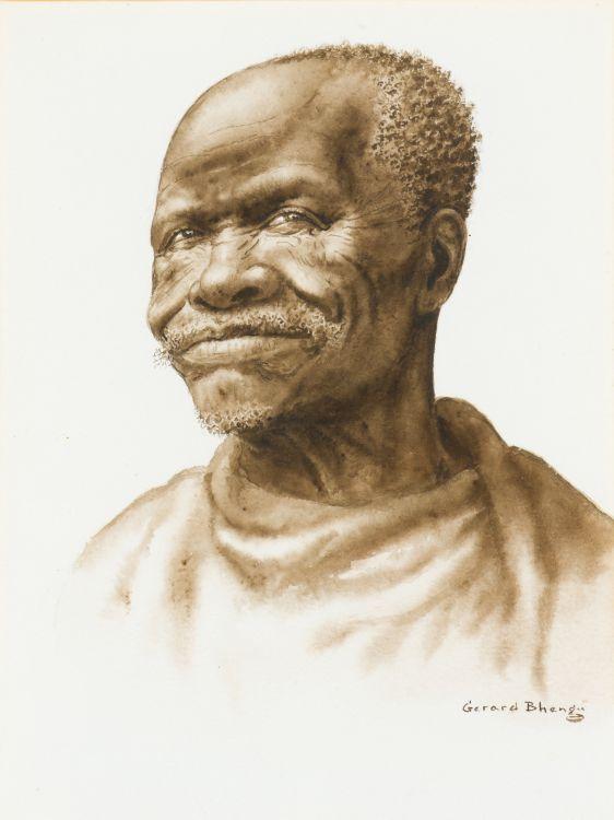 Gerard Bhengu; Portrait of a Man