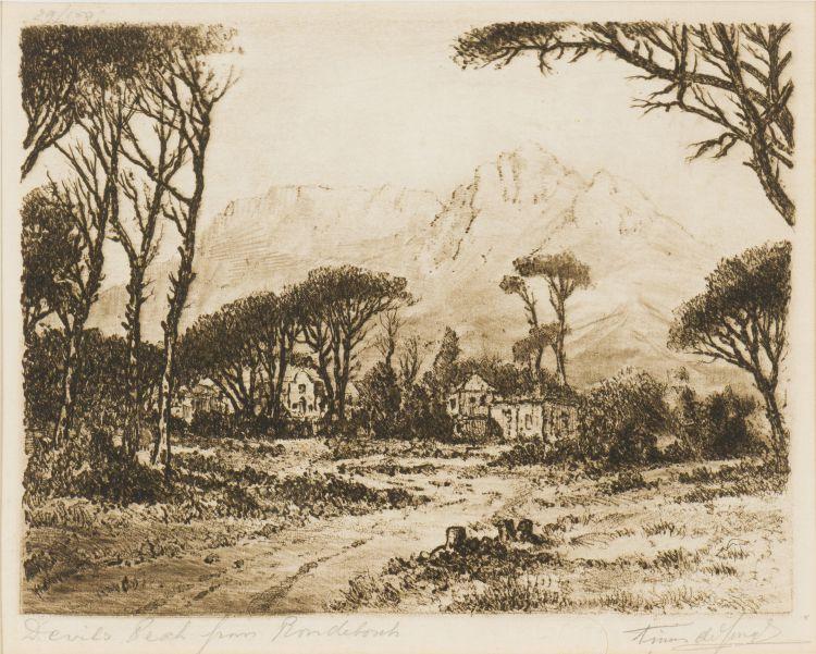 Tinus de Jongh; Devil's Peak from Rondebosch