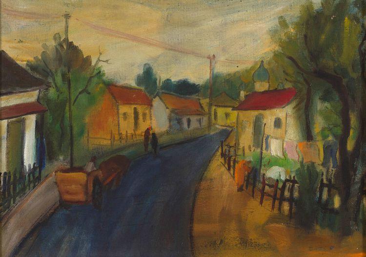 Kenneth Baker; Street Scene, Wynberg